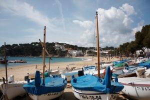 Barques a Llafranc